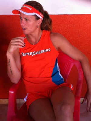 Larissa, atleta de vôlei de praia (Foto: Roberto Leite/Globoesporte.com)