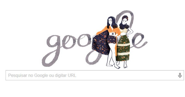 Doodle do Google presta homenagem à estilista Zuzu Angel (Foto: Reprodução)