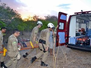 Resgate durou aproximadamente uma hora  (Foto: kairo Amaral/PortalCostaNorte)