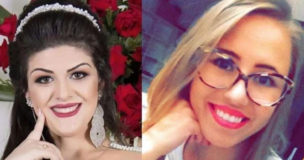 Camila e Daiane morreram após acidente no Oeste de SC (Foto: Arquivo Pessoal)