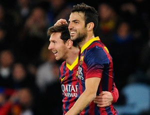 Messi e Fábregas, Barcelona  (Foto: Getty Images)