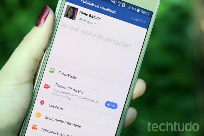 [marca] Facebook celular (Foto: Aline Batista/TechTudo)