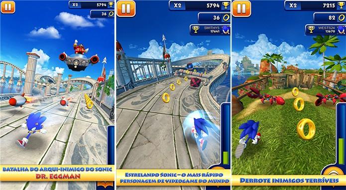 Sonic Dash é o primeiro jogo do porco-espinho da Sega para Windows Phone (Foto: Divulgação/Windows Phone Store)