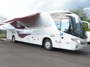 Ônibus do Juizado Itinerante do DF (Foto: Tribunal de Justiça do Distrito Federal/Divulgação)