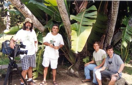 Claúdio em gravação do Globo ecologia, em 2001 Divulgação