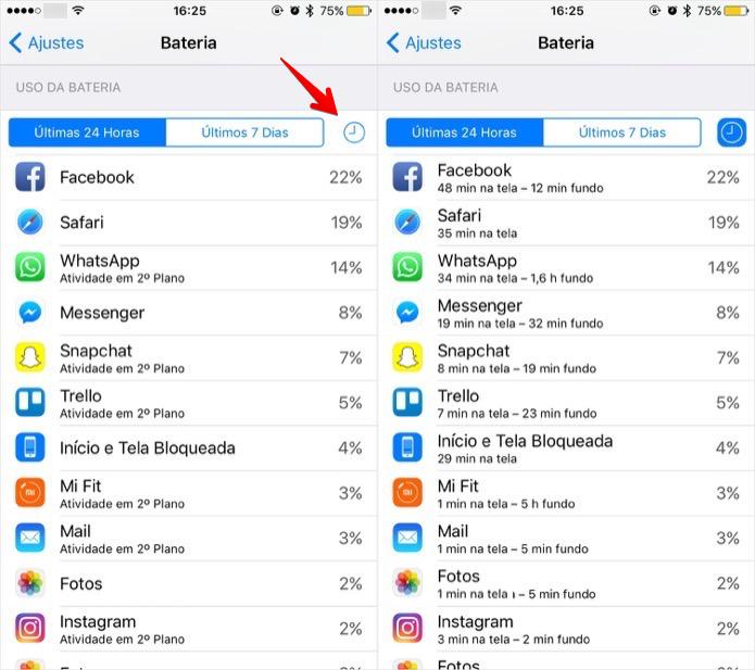 Visualizando lista de apps que mais consomem bateria (Foto: Reprodução/Helito Bijora)