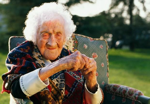 A francesa Jeanne Calment teria ultrapassado os 120 anos (Foto: Getty Images)