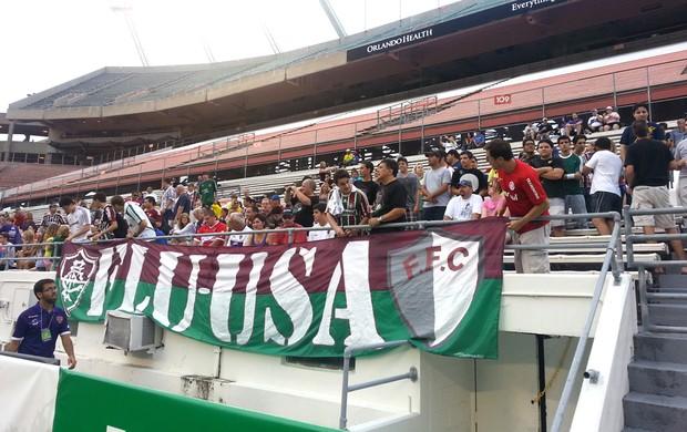 Torcida Fluminense contra o Orlando City (Foto: Rafael Cavalieri)