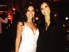 Maria Melilo usa vestido decotado no aniversário da ex-BBB Talula