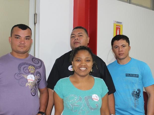 Empresário levou mais de 30 funcionários de sua empresa para doarem sanguem ao Hemopi (Foto: Gil Oliveira/ G1)
