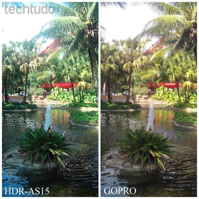 Comparativo mostra melhor desempenho da GoPro (Foto: Anna Kellen/TechTudo)