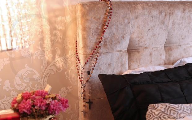Iris Stefanelli mostrando a casa para o EGO (Foto: Iwi Onodera / EGO)