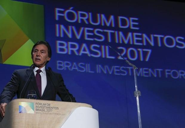 Eunício Oliveira na abertura do Fórum de Investimentos Brasil 2017 (Foto: Marcos Corrêa/PR)
