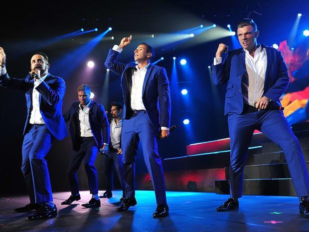 Os Backstreet Boys fazem na noite desta segunda-feira (08/06), no Citibank Hall, na Barra da Tijuca, a primeira apresentação no Rio de Janeiro, a segunda das oito da atual turnê no Brasil. (Foto: ILAN PELLENBERG/FRAME/ESTADÃO CONTEÚDO)