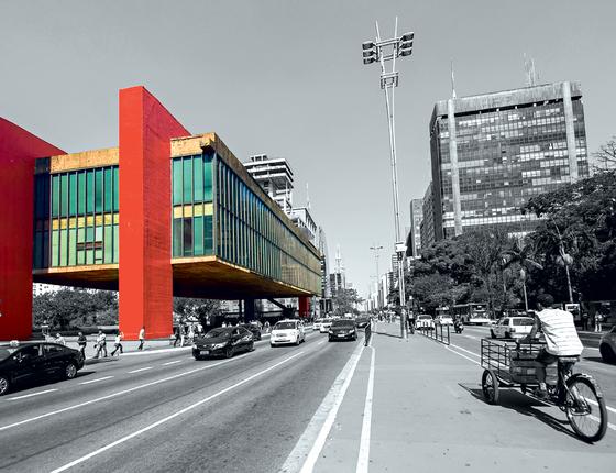 O MASP,na avenida Paulista em,São Paulo (Foto:   Rubens Chaves/Pulsar)