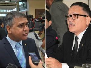 Moisés Souza (à esquerda) e Edinho Duarte forma condenados (Foto: John Pacheco/G1; Jorge Júnior/Agência Amapá)