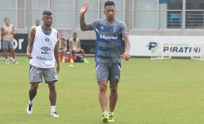 Léo Moura Barrios Grêmio (Foto: Eduardo Moura/GloboEsporte.com)
