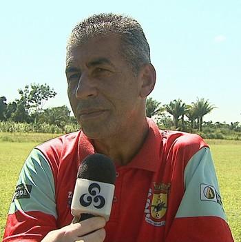 Paulo Roberto Oliveira, técnico do Galvez (Foto: Reprodução/Rede Amazônica Acre)