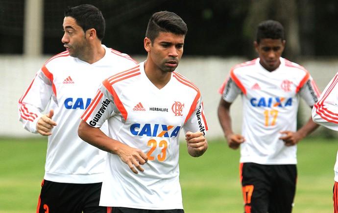Eduardo da Silva, treino Flamengo (Foto: Gilvan de Souza / Flamengo)