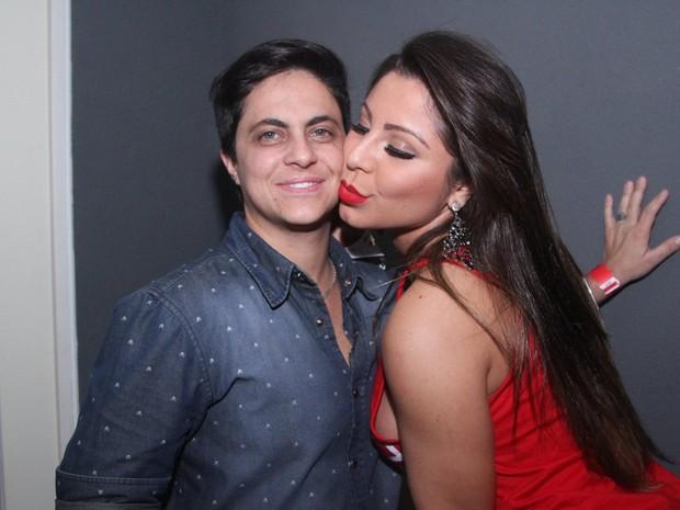 Thammy Miranda e a namorada, Andressa Ferreira, em boate em São Paulo (Foto: Thiago Duran/ Ag. News)
