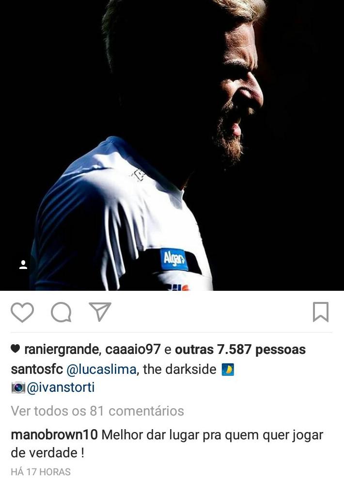 """BLOG: Santista Mano Brown cobra Lucas Lima: """"Melhor dar lugar para quem quer jogar"""""""