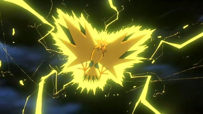 Zapdos ainda não é capturável em Pokémon Go (Foto: Divulgação/Nintendo)