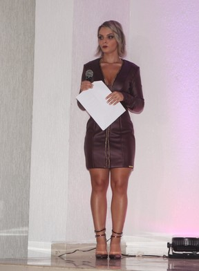 Indianara Carvalho no Miss Bumbum 2015 em São Paulo (Foto: Iwi Onodera/ EGO)