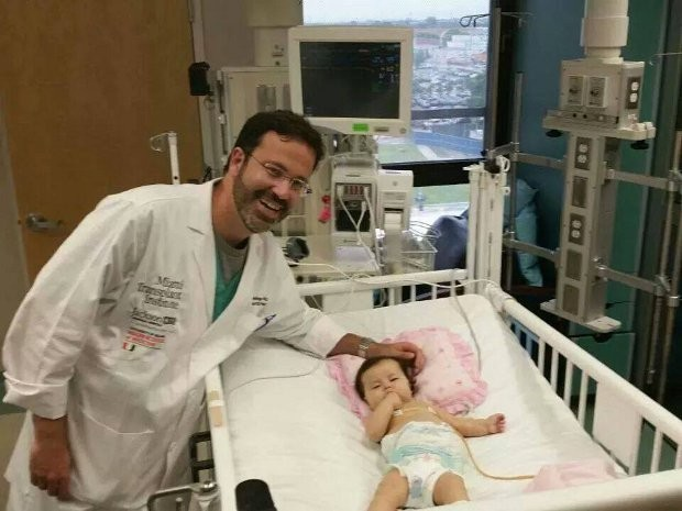 Sofia está nos EUA para fazer cirugia rara (Foto: Divulgação/ Campanha  'Ajude a Sofia´)