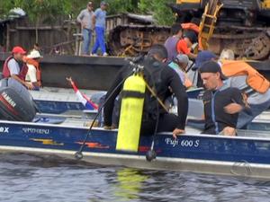 Encontrado 13º corpo de desaparecido em naufrágio no rio Paraguai (Foto: Reprodução/TV Morena)