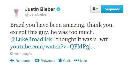 Justin Bieber posta mensagem no twitter (Foto: Instagram / Reprodução)