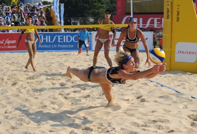 Laura Ludwig final Copa do Mundo Yokohama Bárbara e Ágatha vôlei de praia (Foto: Masashi Hara/Getty Images para FIVB)