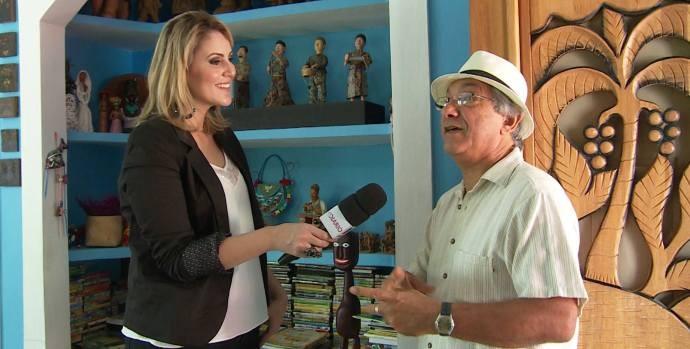 Mestre Valdeck abre as portas do seu ateliê em Guararema  (Foto: Reprodução / TV Diário)