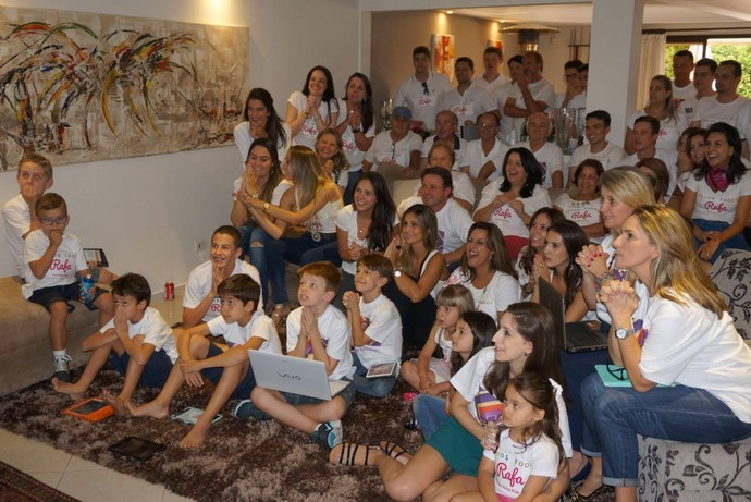 Torcida de Rafa Gomes do The Voice Kids em Curitiba  (Foto: Arquivo pessoal)