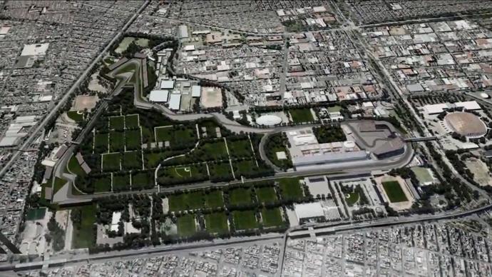Circuito do GP do México - Autódromo Hermanos Rodríguez (Foto: Reprodução)
