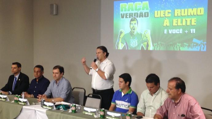 Apresentação Uberlândia Esporte UEC (Foto: Gullit Castro)