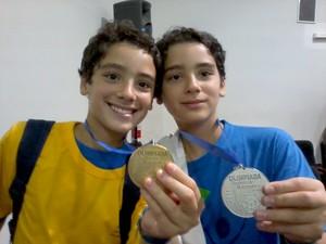 Irmãos gêmeos se preparam para Olimpíadas (Foto: Fabiana Mello/Arquivo Pessoal)