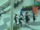 Ladrões se aliam a vendedores de praia para atacar turistas no Rio