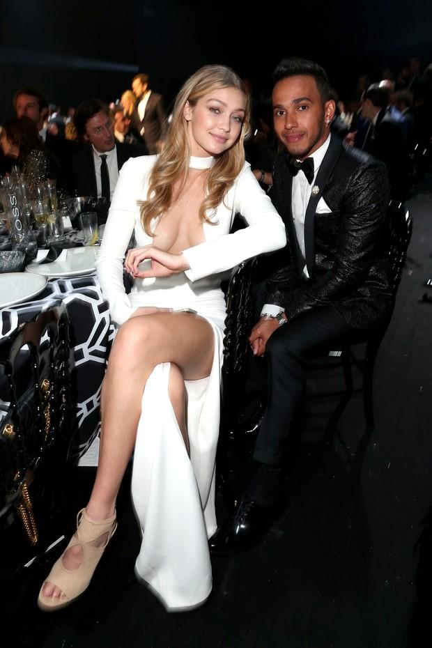 Gigi Hadid e Lewis Hamilton (Foto: Getty Images)