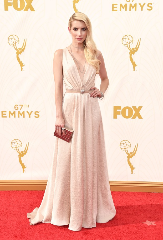 Emma Roberts no Emmy Awards (Foto: Getty Images)