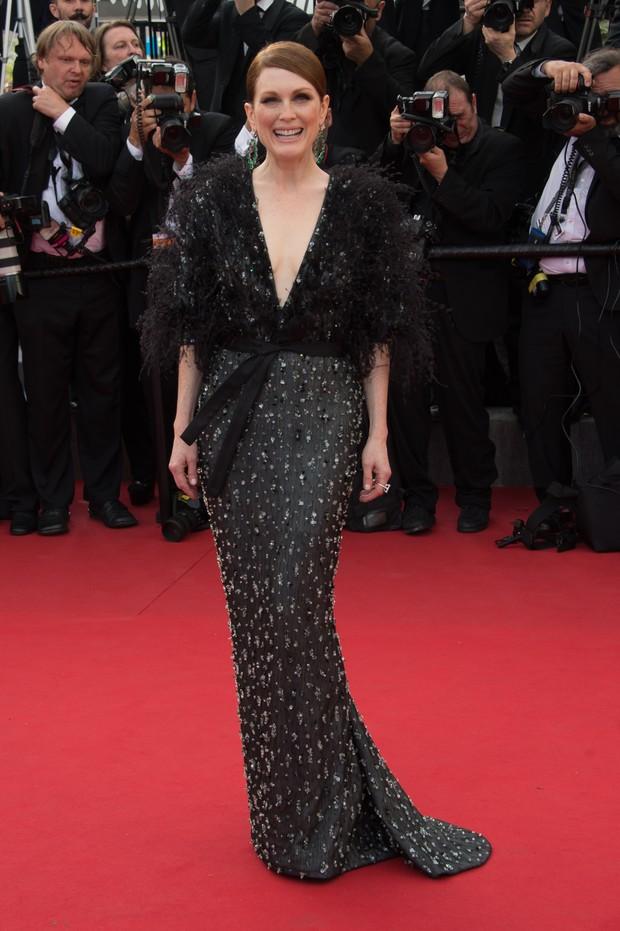 Julianne Moore na cerimônia de abertura do Festival de Cannes 2015 (Foto: Getty Images)