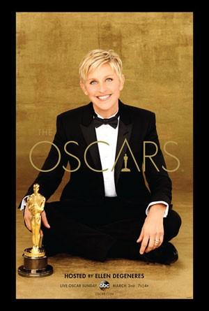 Ellen DeGeneres no pôster oficial da 86ª edição do Oscar (Foto: Divulgação)