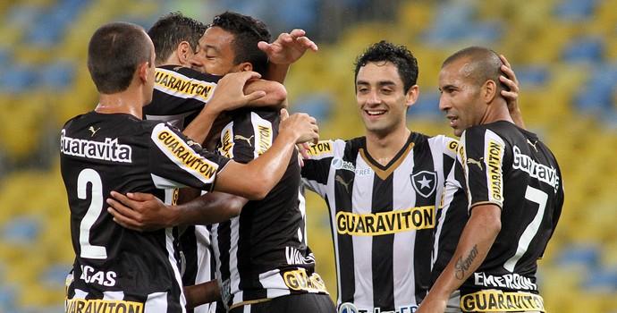 emerson sheik wallyson daniel Botafogo x Criciuma (Foto: Vitor Silva / SSPress)