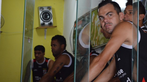 Magno - jogador do River Plate-SE (Foto: Felipe Martins / globoesporte.com)
