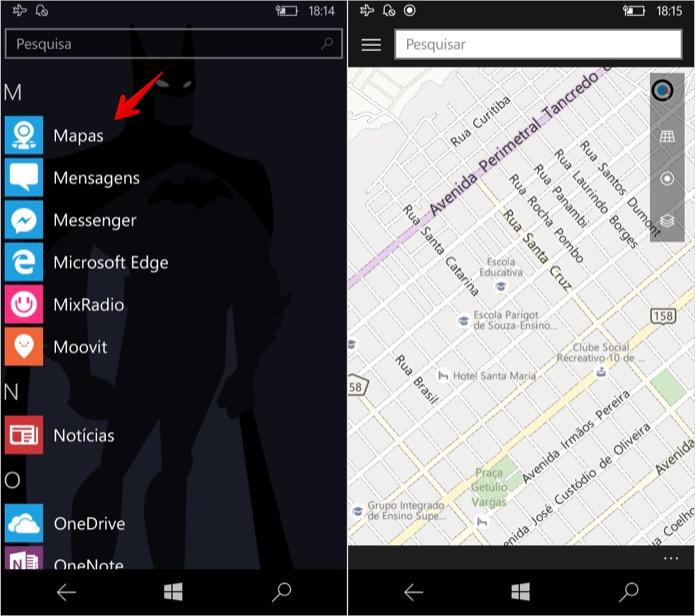 Usando mapas no modo offline (Foto: Reprodução/Helito Bijora)