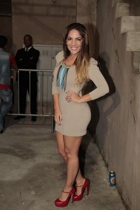 Ex-BBB Anamara em show de Preta Gil no Rio (Foto: Isac Luz/ EGO)