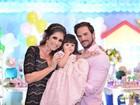 Ex-BBB Rodrigo Carvalho comemora o aniversário da filha