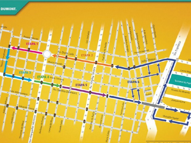 Binário Dom Luís - Santos Dumont será implantado em seis etapas (Foto: Prefeitura de Fortaleza)