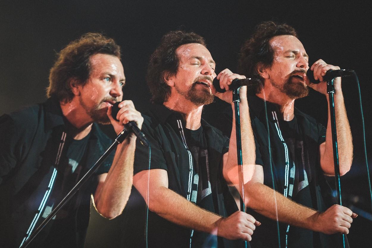 Eddie Vedder emocionou o pblico do Lollapalooza (Foto: Diego Padilho/I Hate Flash)