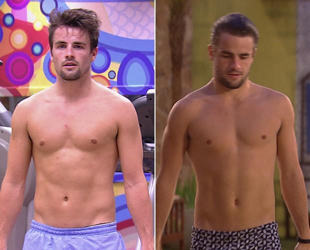 Rafael saiu com mais peso da casa! Ele entrou com 67,6 kg e se despediu com 68 kg (Foto: TV Globo)
