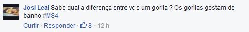 Comentário preconceituoso na página de MC Carol (Foto: Reprodução/Facebook)